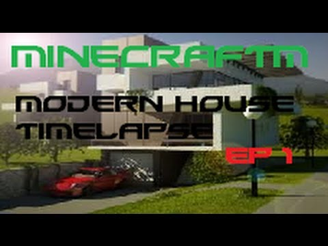 Minecraft Modern House Time Lapse YouTube