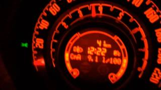 Fiat 500 Twin-Air 0.9 Liter 2 Cylinder 85 HP Sound and 0-100 km/h