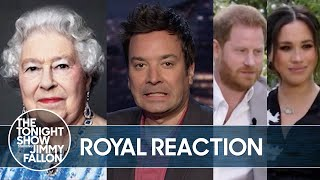 Royal Family Responds to Harry and Meghan's Interview, Piers Morgan Quits | The Tonight Show