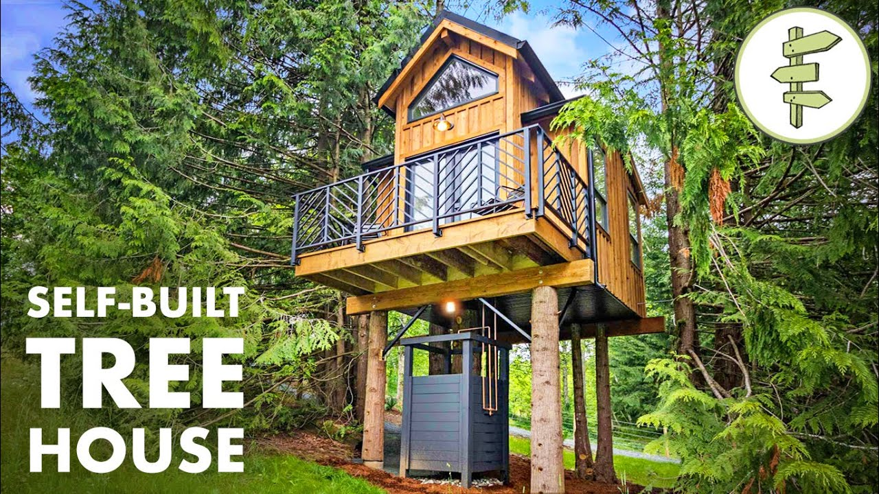 Stunning Ultra Tiny Tree House with Modern Interior Design - FULL TOUR