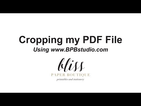Cropping My PDF File
