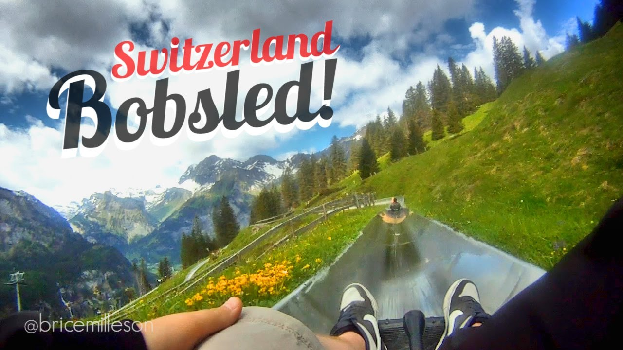 huge bobsled in switzerland youtube