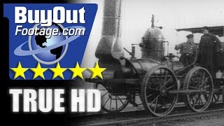 HD Stock Footage - Story of Transportation, Locomotives, Trains, Railroad, Steam Engines