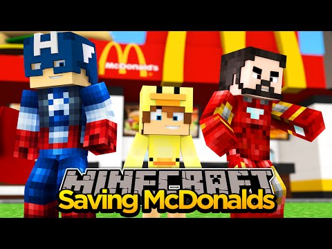 MINECRAFT- SAVING McDONALDS FROM NINJAS w/THE MINEVENGERS