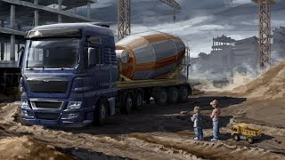 ПОКУПАЕМ DAF Euro Truck Simulator 2.  (YFRJGBKB НА ПЕРВЫЙ TRUCK) #7 (руль logitech g29)