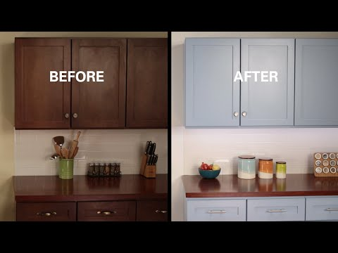 KILZ® How To: Refinish Kitchen Cabinets