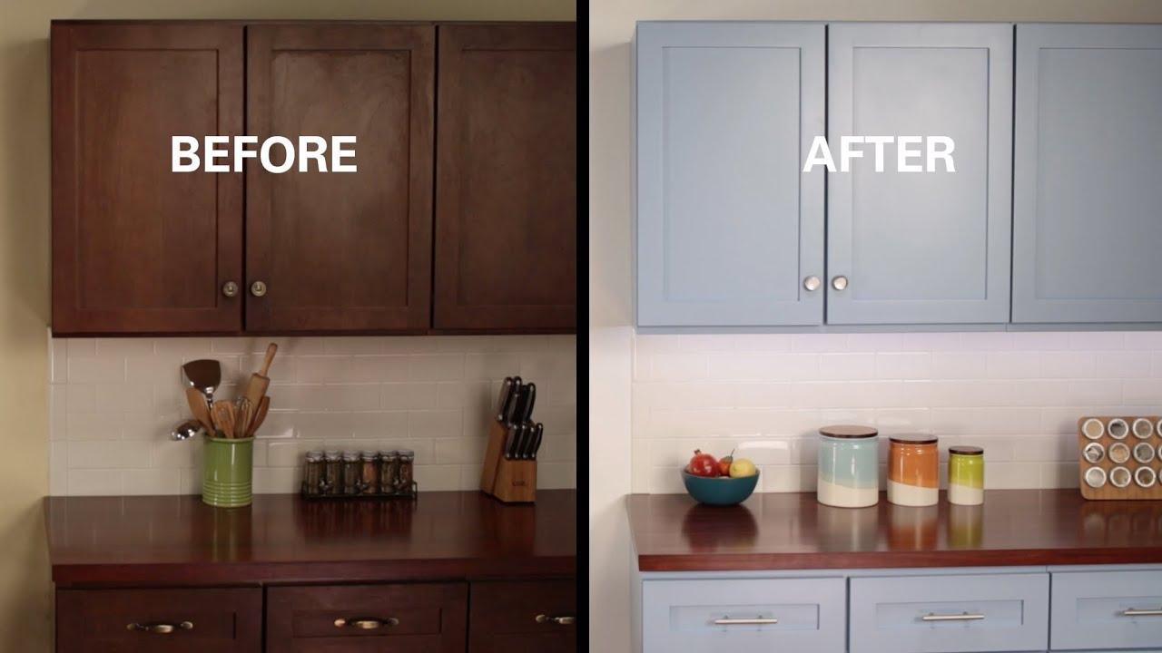 KILZ How To: Refinish Kitchen Cabinets - YouTube