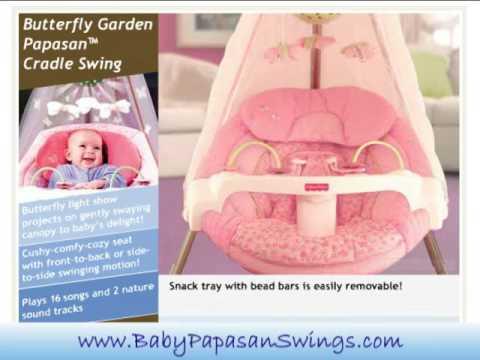 Butterfly Garden Baby PapasanTM Swing