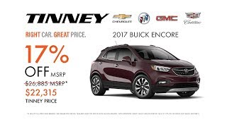 2017 Buick Encore Prices and Deals at Tinney Automotive