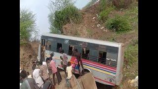 GSRTC bus got accident in Amreli, ST bus driver found drunk