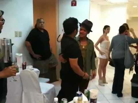 Bruno Mars backstage in Manila concert