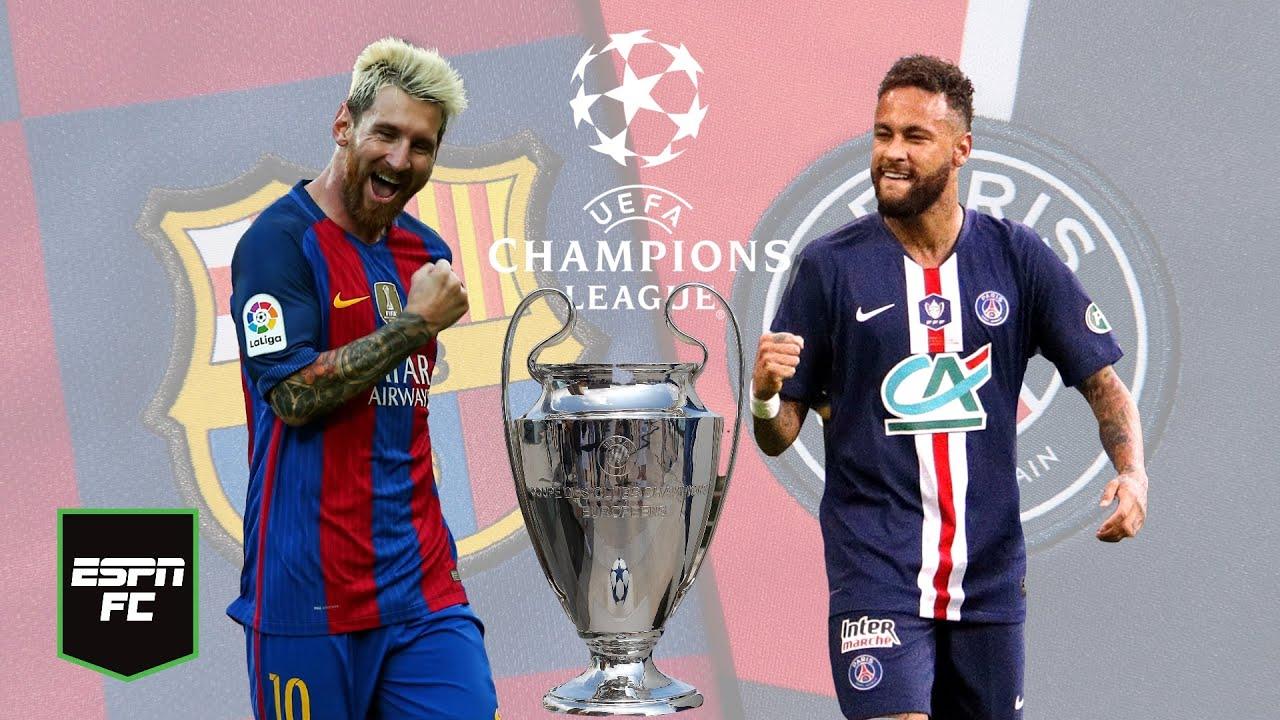 CHAMPIONS LEAGUE Messi vs Neymar, Barcelona vs PSG, el duelo más atractivo  de octavos   ESPN FC - YouTube