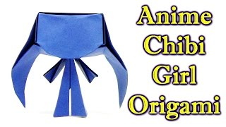Origami Anime Chibi Girl  by Hans Romano - Origami easy tutorial