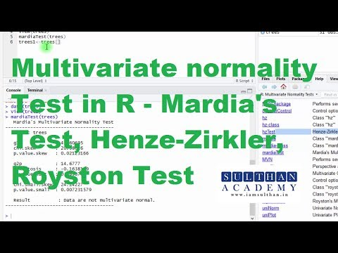 Multivariate Normality Tests with R – Mardia's Test, Henze