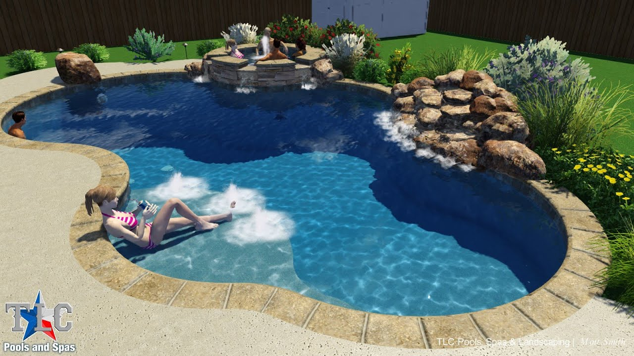 Pool Design For The Carraway Family In Whitewrite Tx Tlc Pools And Spas