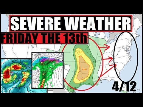 FRIDAY THE 13th WILD WEATHER Update!! WInter Storm, Tornadoes, Hail, Wind, Rain!