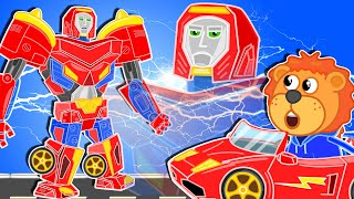 Lion Family Official Channel ???? Iron Robot #9. Transformers   Cartoon for Kids