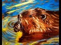 Step By Step Oil Painting Demonstration Of A North American Beaver mp3