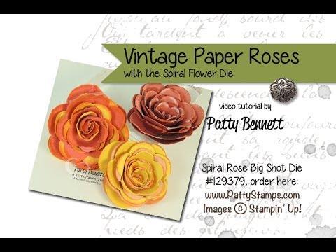 Stampin up spiral flower vintage paper flower youtube stampin up spiral flower vintage paper flower mightylinksfo Choice Image