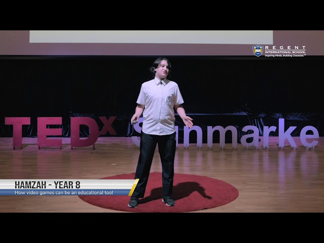 How Video Games can be an Educational Tool by Hamzah | Year 8 at TEDxSunmarke