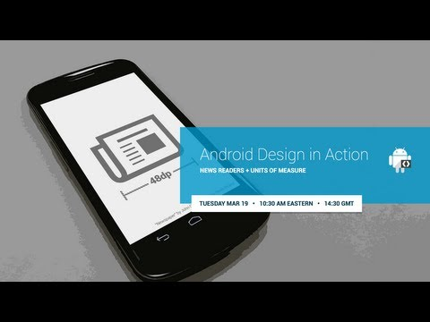 Android Design in Action: News Readers and Units of Measure