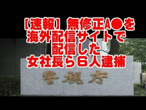 【緊急速報】無修正のアダルトビデオを制作、海外の動画配信サイトで配信 女社長ら6人逮捕