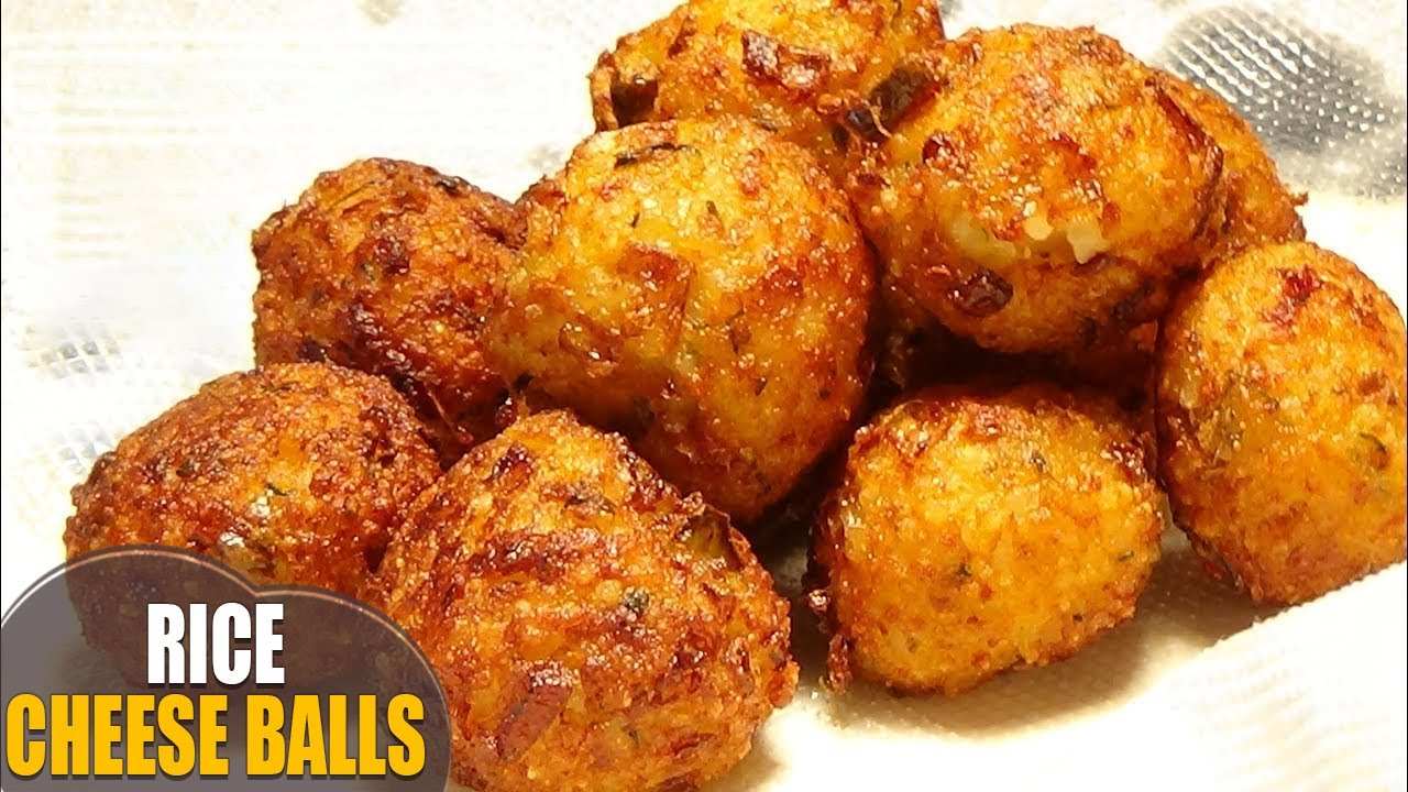 Rice balls rice cheese balls recipe quick easy for Quick snacks to make with potatoes