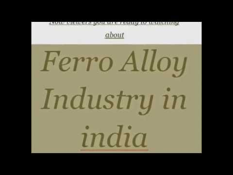 Ferro Alloy industry in india