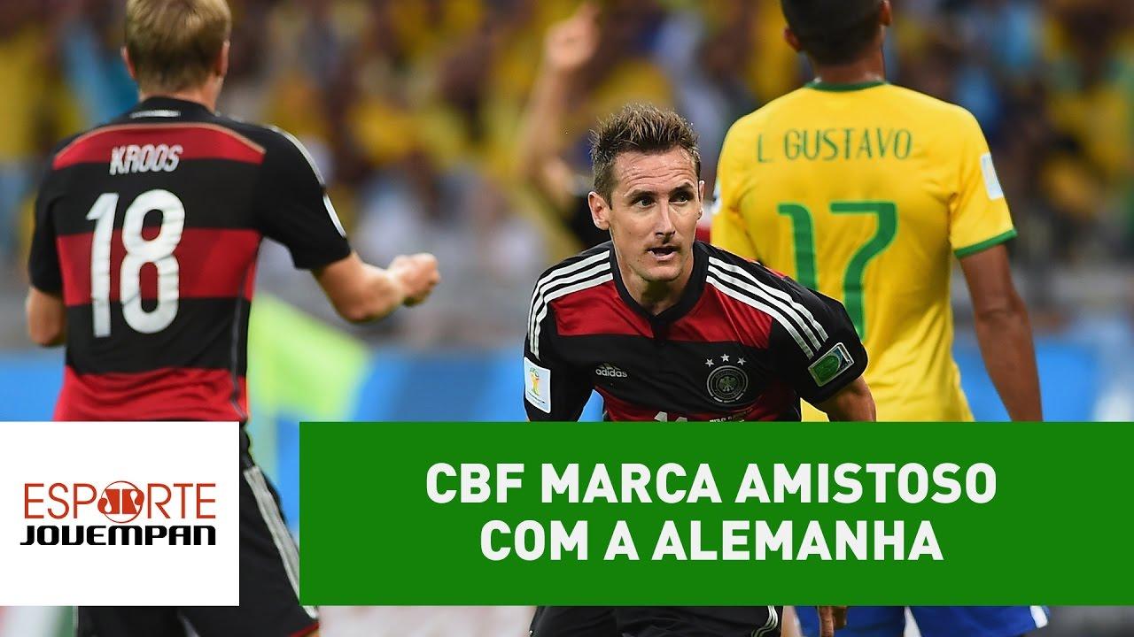 398e9f7cf4 CBF marca jogo com Alemanha. Vingança ou novo vexame  - YouTube