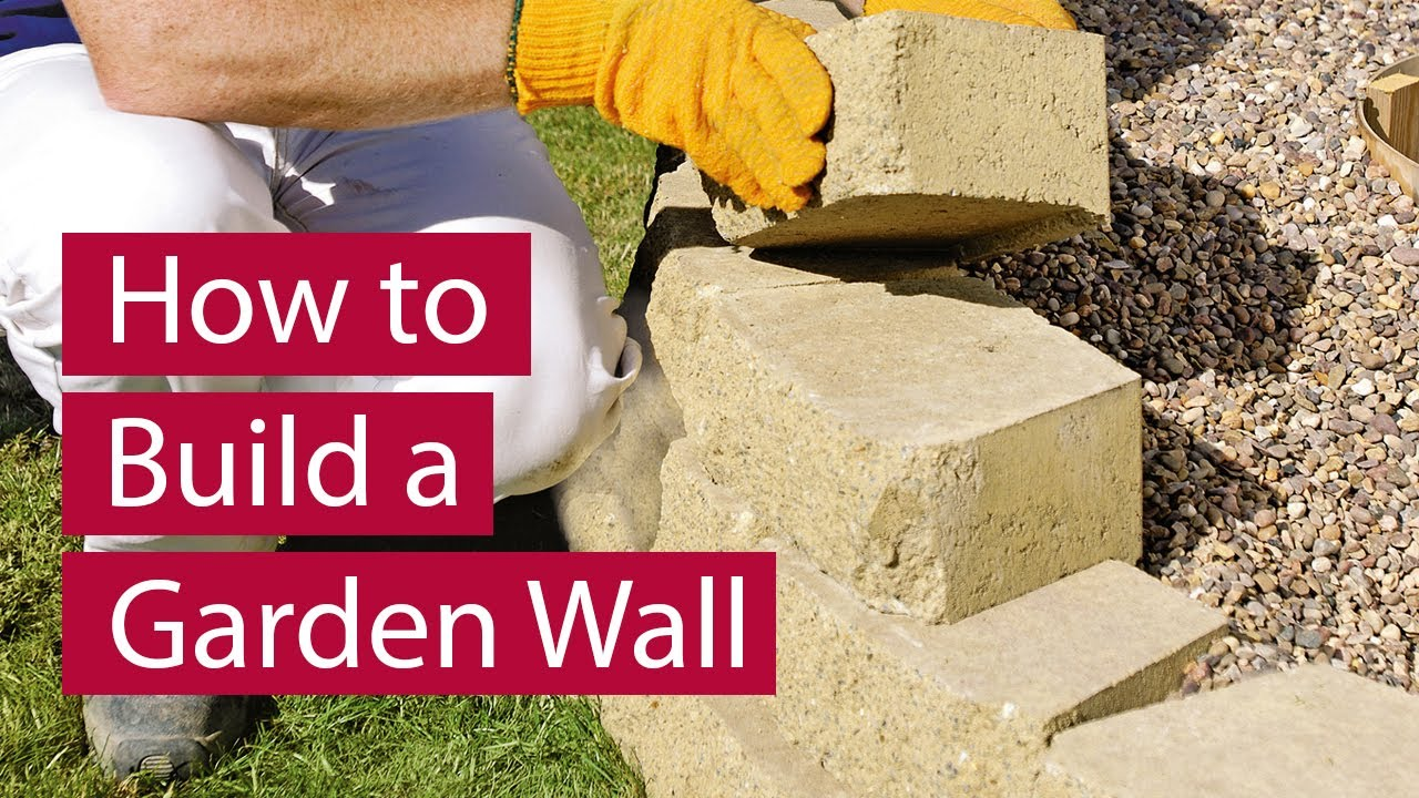 How to Build a Garden Wall YouTube