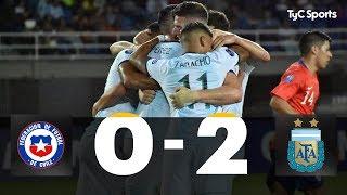 Preolímpico Sub-23: Chile 0-2 Argentina (Capaldo y Nehuén Pérez)