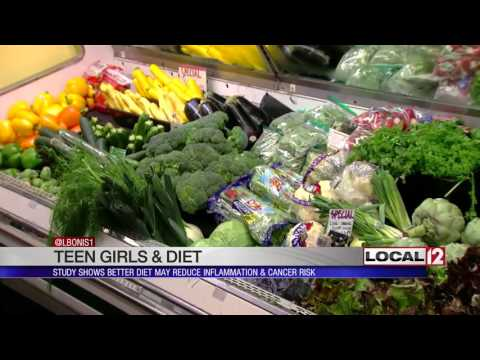 To reduce future risk of breast cancer, teen girls should eat more fruits, vegetables