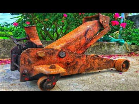Restoration Hydraulic Jack Lifting Car Rusty - Tutorial Repair Jack Lift The Oil Restore Old