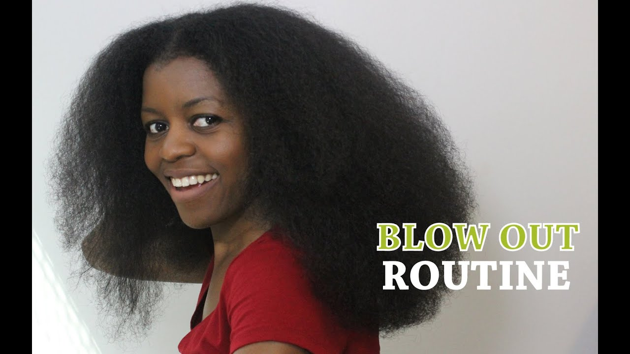 Blow Out Routine Ft Shea Moisture Blow Out Cream Natural Hair Misst1806 Youtube