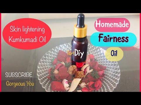 How to make kumkumadi oil at home Homemade Fairness Oil  
