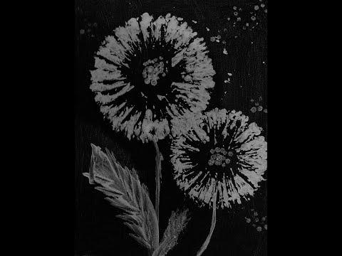 Acrylic Malerei Pusteblumen Abstrakte Blumen Von Art Du Soleil Auf