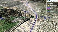 Northbound Burbank to LA Project Section Animation