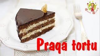 "🔵 Praqa tortunun hazırlanması #2  Karamelli qrilyajlı   ""Прага"" с карамельно-грильяжным кремом  "