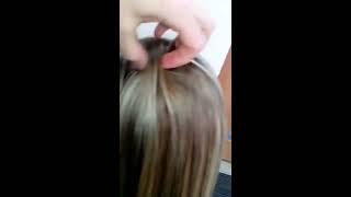 Наращивание волос на короткую стрижку 190 микро капсул Наталья Козицкая Челябинск