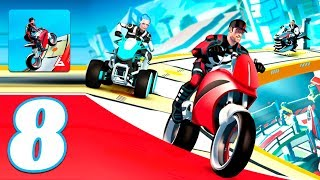 Gravity Rider: Space Bike Racing Game Online #8 - Gameplay Android & iOS game - bike games