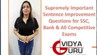 SSC CGL Exam Preparation & IBPS PO Preparation 2017: English Grammar (Sentence Improvement)