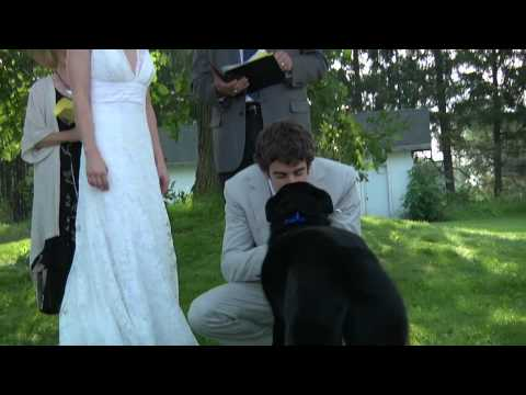 Ring Bearer Kisses Groom at Wedding