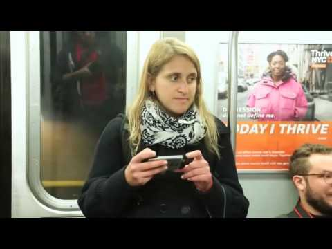 Fake Book Cover on Subway
