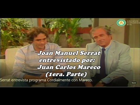 Joan Manuel Serrat entrevista programa Cordialmente con Mareco.