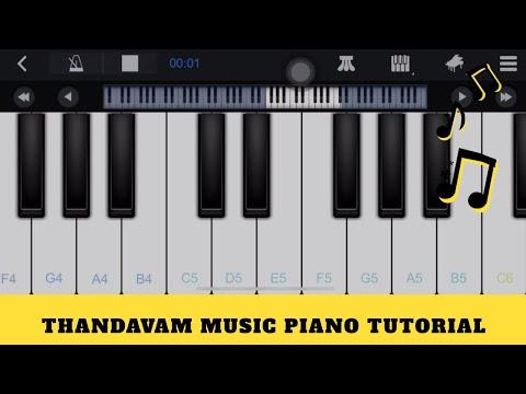 Thandavam Theme Music Piano Mobile Tutorial | Easy Piano Tutorial for Tamil Songs thumbnail