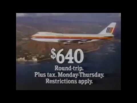 1982 United Airlines Commercial to Hawaii