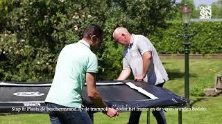 Game on Sport Jumpline opbouwinstructies rechthoekige trampoline