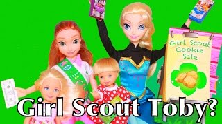 Frozen Toby Chelsea Barbie Girl Scout Cookies Disney Princess Anna Elsa Maleficent Frozen Amber