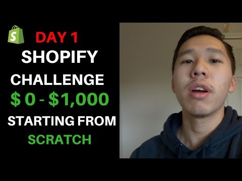 (Day 1) Shopify Challenge: From Scratch $0 TO $1,000 In 7 Days | Shopify Case Study