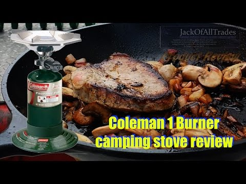 Coleman 1 Burner Camping Stove Review Cooking Steak And Burgers